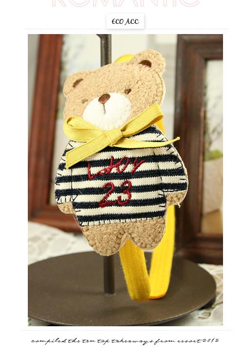 髮箍,髮圈,熊熊,兒童髮飾,韓國,韓製,髮飾