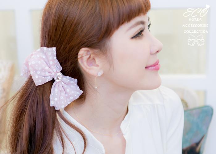 紗質,小花,點點,水玉,圓鑽,髮夾,香蕉夾,韓國髮飾,韓國髮圈,韓國飾品,髮圈