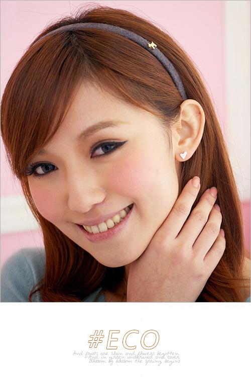 愛心耳環,綴鑽耳環,純銀針耳環,925純銀耳環,抗過敏耳環