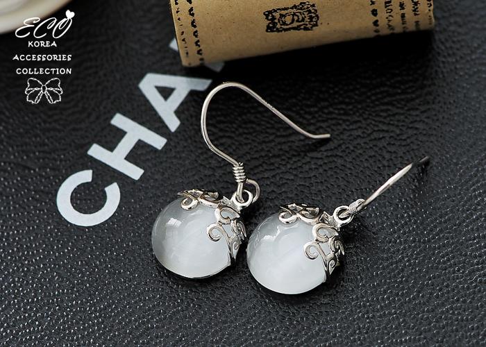 圖騰,花紋,瑪瑙石,貓眼石,寶石,純銀針耳環,925純銀耳環,抗過敏耳環