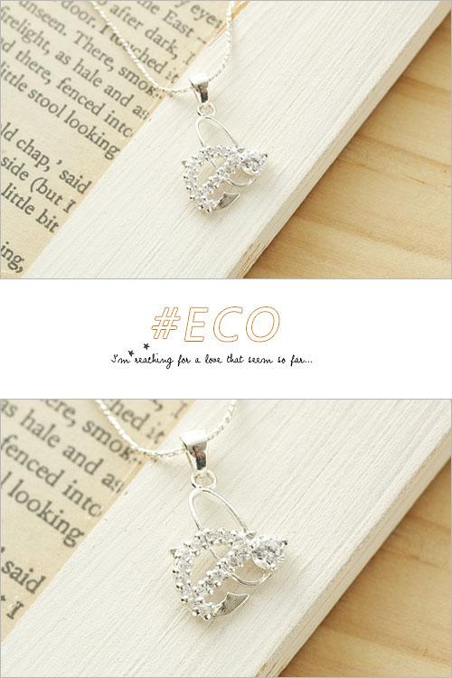 蝴蝶項鍊,水鑽銀鍊,鎖骨項鍊,925純銀項鍊,純銀飾品