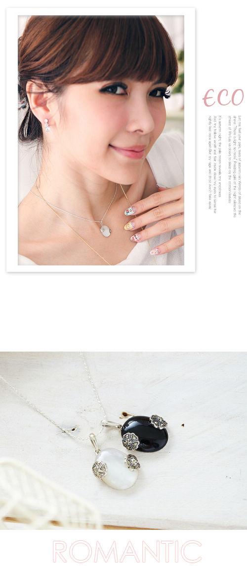 黑寶石,月光石,水鑽銀鍊,鎖骨項鍊,925純銀項鍊,純銀飾品