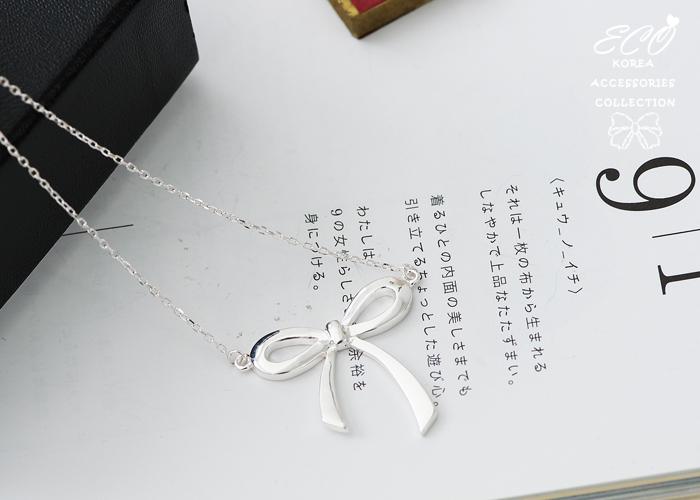 緞帶,蝴蝶結,蝴蝶結項鍊,項鍊,925純銀項鍊,純銀飾品,925純銀墜鍊