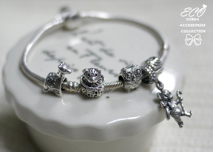 潘朵拉,豆豆,925純銀墜飾,925純銀手鍊,墜飾,小熊,禮物盒,純銀飾品