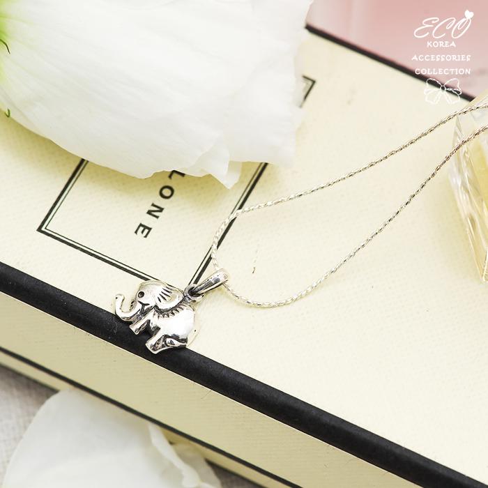 微笑,大象,小象,可愛,項鍊,925純銀項鍊,純銀飾品
