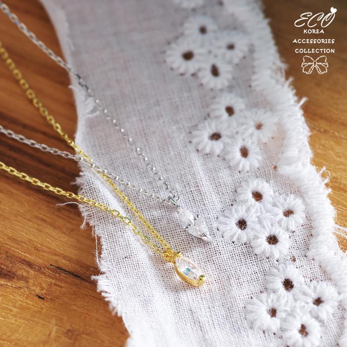 水滴,鑽,鎖骨項鍊,項鍊,韓貨,韓製,項鍊