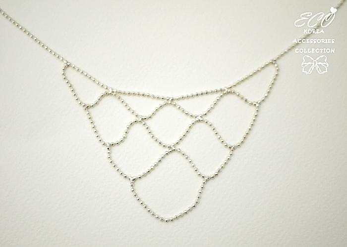 垂墜,小銀珠,線條,鑽,鎖骨項鍊,925純銀項鍊,純銀飾品