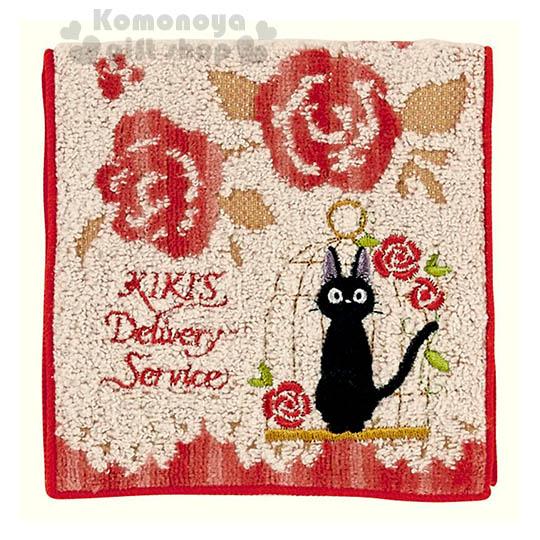 〔小禮堂〕魔女宅急便 毛巾布收納袋《紅白.kiki.玫瑰》日本丸真系列