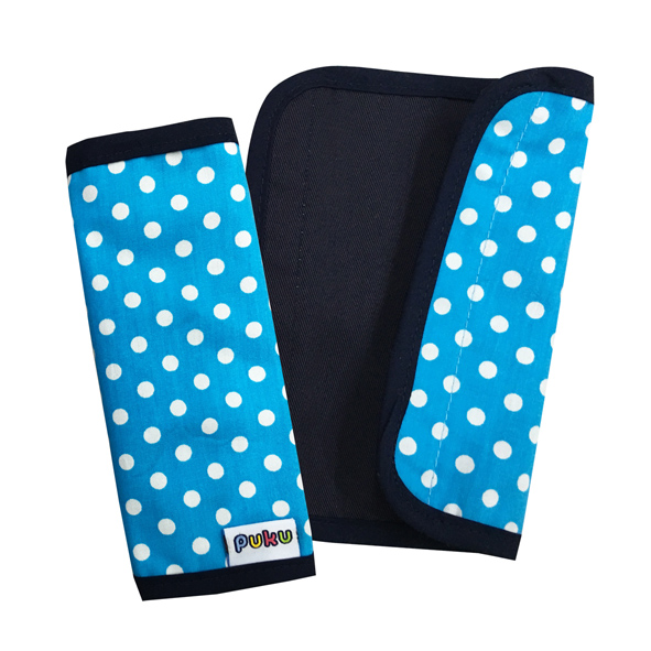 『121婦嬰用品館』PUKU 推車把手保護套2入- 藍點15*16cm