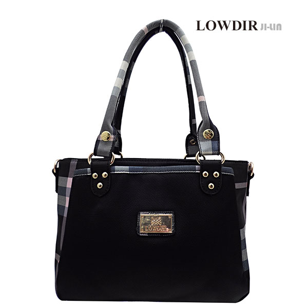 5-J6288【LOWDIR 露蒂兒】極簡黑白格子紋女包 (二用)