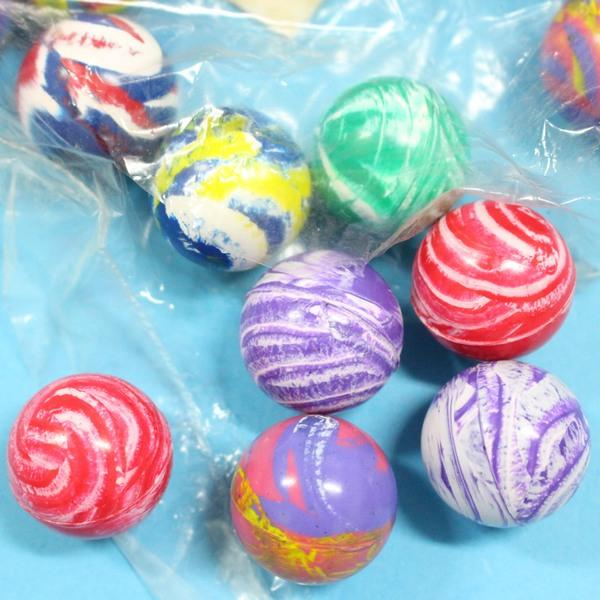 3入小彈力球 2.5cm彈跳球 跳跳球 橡膠球玩具/一袋12包入(共36個入){定10}~瑋