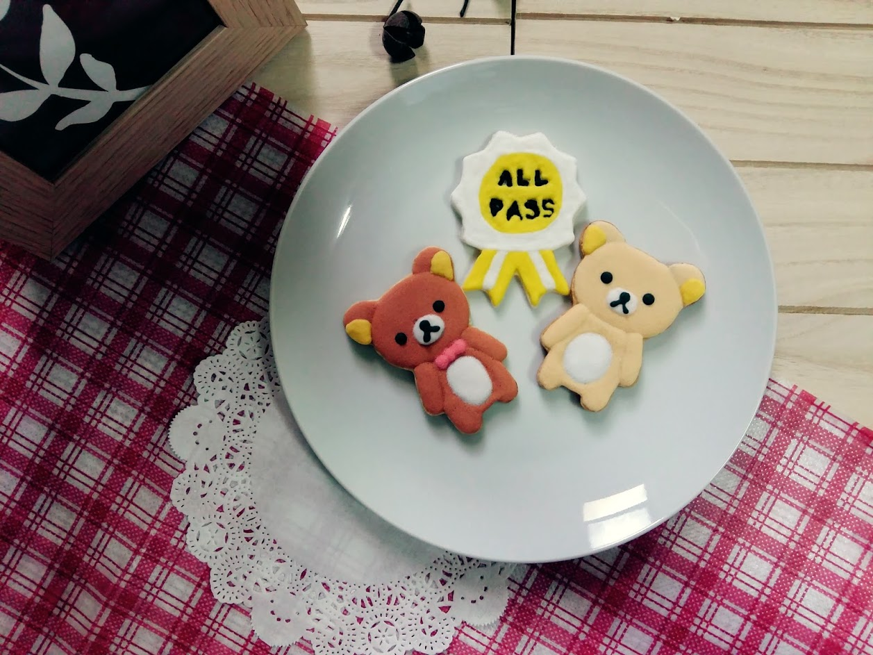 【GJ 私藏點心】  祝福尼~~拉拉熊  畢業/萬事ALL PASS 糖【3片入】 手繪糖霜餅乾禮盒