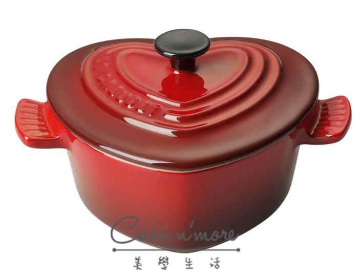 Le Creuset 愛心小烤盅(含蓋) 烤模 烘培用品 櫻桃紅