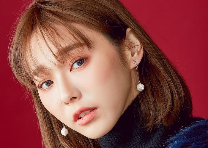 韓國飾品,夾式耳環,螺旋夾耳環,珠珠造型耳環,圓球造型耳環,垂墜耳環