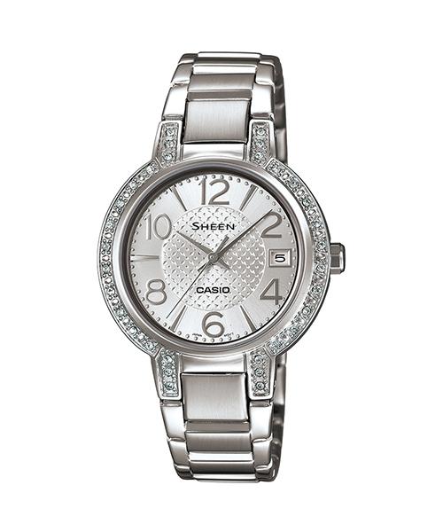 CASIO SHEEN SHE-4804D-7A奢華系列時尚腕錶/白色32mm