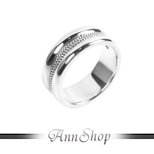 AnnShop【凹面雙鍊戒指‧925純銀】小安的店金屬編織風珠寶銀飾禮品r91960