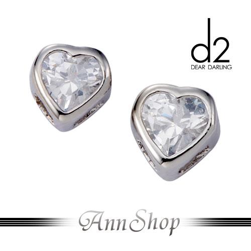 AnnShop【愛次方d2‧心的發光體白鋼耳環】小安的店低調時尚愛心晶鑽珠寶銀飾禮品de005