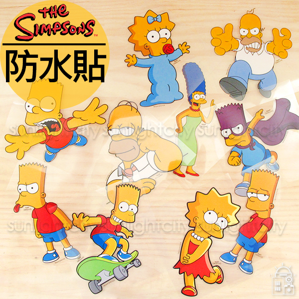 日光城。辛普森防水貼紙,壁貼安全帽貼紙木製品貼紙冰箱貼紙書包貼紙筆電貼紙機車貼紙The Simpsons 聖誕佈置裝飾