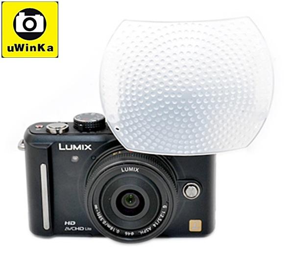又敗家@偏左白色神盾超大內閃柔光罩(大80%)適OLYMPUS EP-6 EP5 EP3 EPL2 EPL1s Canon EOS M3 G3 X G3X G1 X G1X mark2 G16 G15..