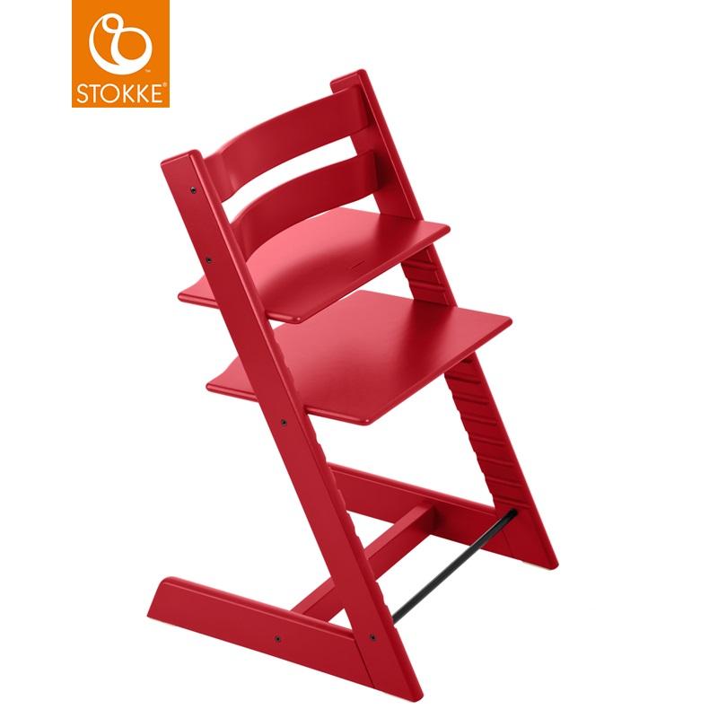 挪威【Stokke】Tripp Trapp 成長椅-紅色