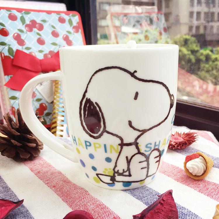 PGS7 (現貨+預購) 日本史努比系列商品 - 史努比 幸福 馬克杯組 付匙 水杯 造型杯 snoopy