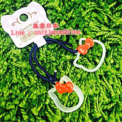 【真愛日本】16092300013造型髮束-KT大臉簍空紅結  三麗鷗 Hello Kitty 凱蒂貓  髮飾 飾品 正品