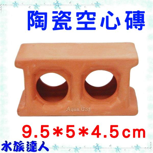 【水族達人】陶瓷《陶瓷空心磚 9.5*5*4.5》裝飾、魚兒躲藏、產卵