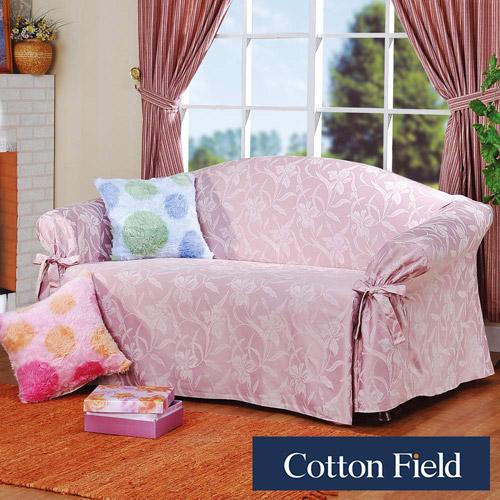 零碼出清【艾貝拉】提花單人沙發便利套-粉色