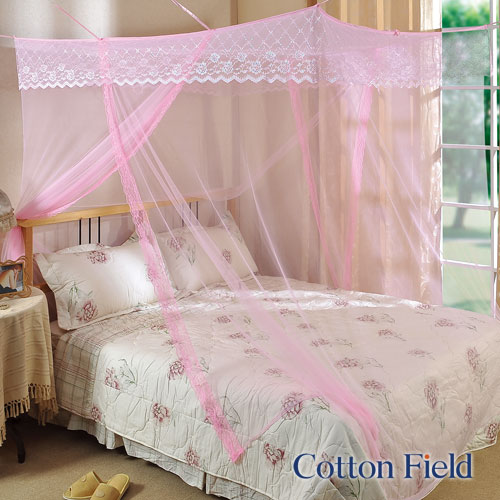 【艾莉絲】加大刺繡蚊帳-粉色(180x180cm)