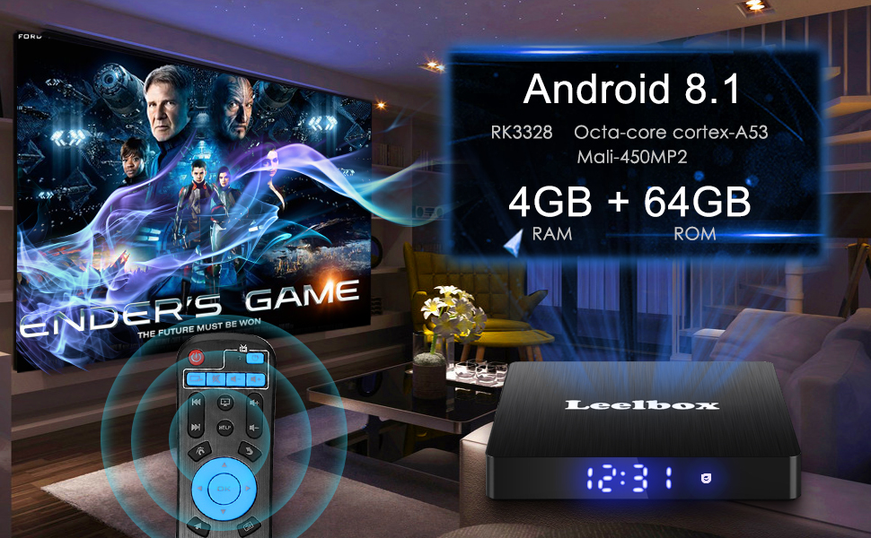 Leelbox: Leelbox Android 8 1 4GB RAM+64GB ROM TV Box Q4 MAX Quad