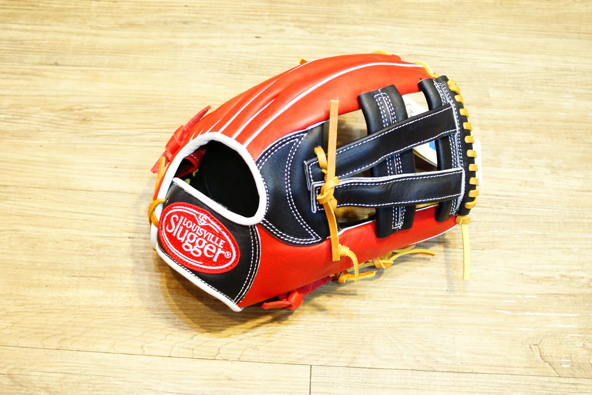 棒球世界 路易士Louisville Slugger (TPX) X-Remix 牛皮棒球手套 特價 V字檔 紅黑配色