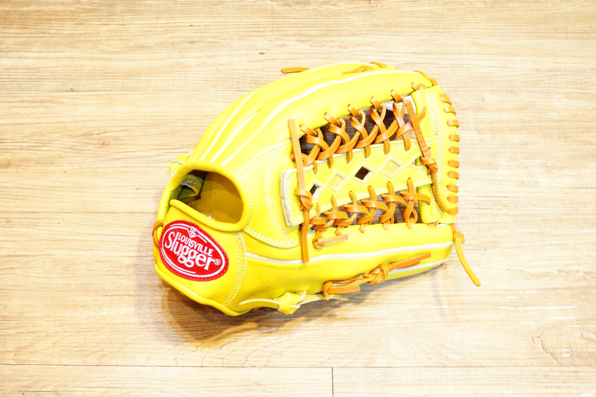 棒球世界全新 Louisville Slugger TPX 金剛系列 硬式棒壘手套 特價 外野T網 檸檬黃色