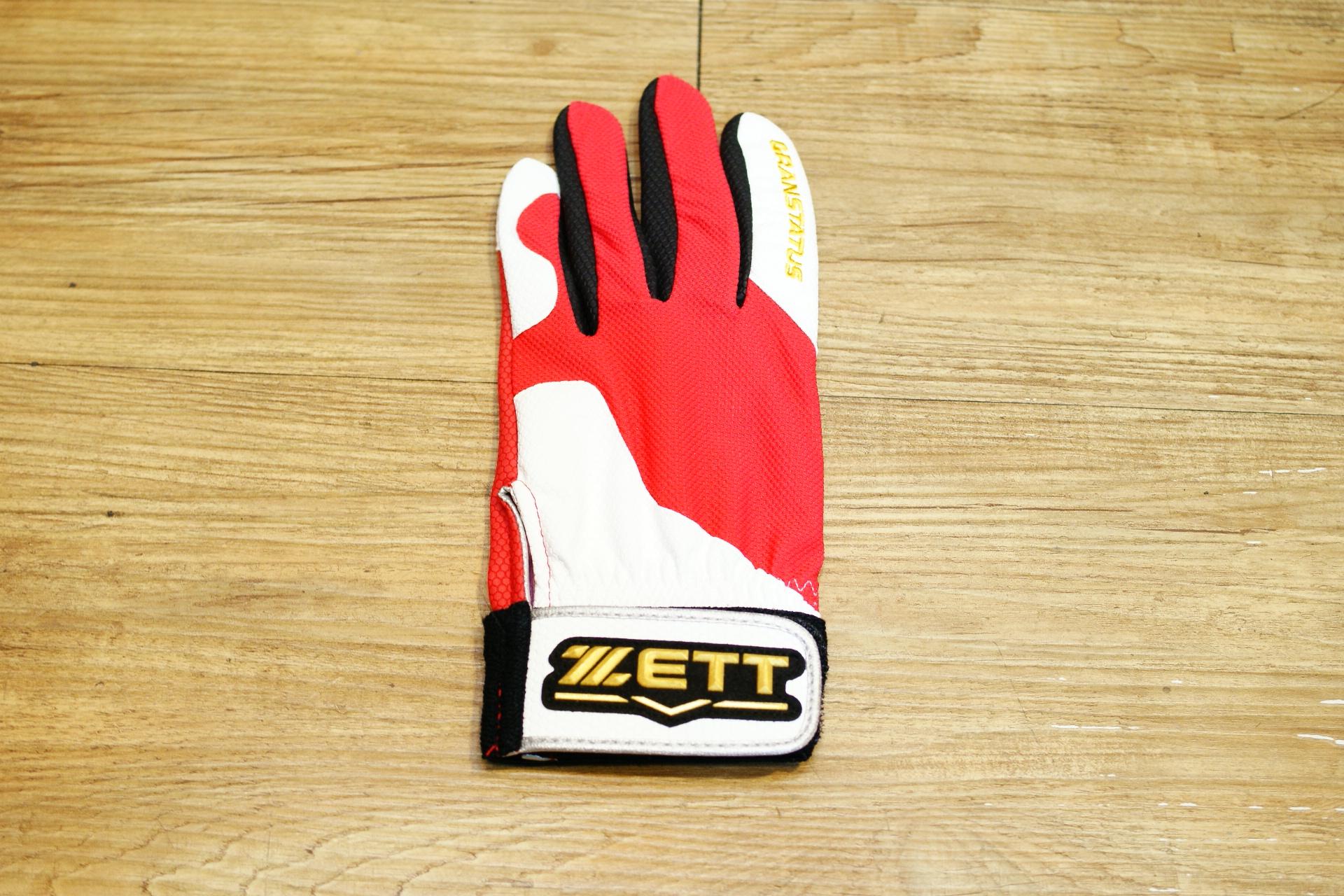 棒球世界 16年ZETT本壘版標全新配色款守備手套 特價 掌面止滑新設計/紅白配色/