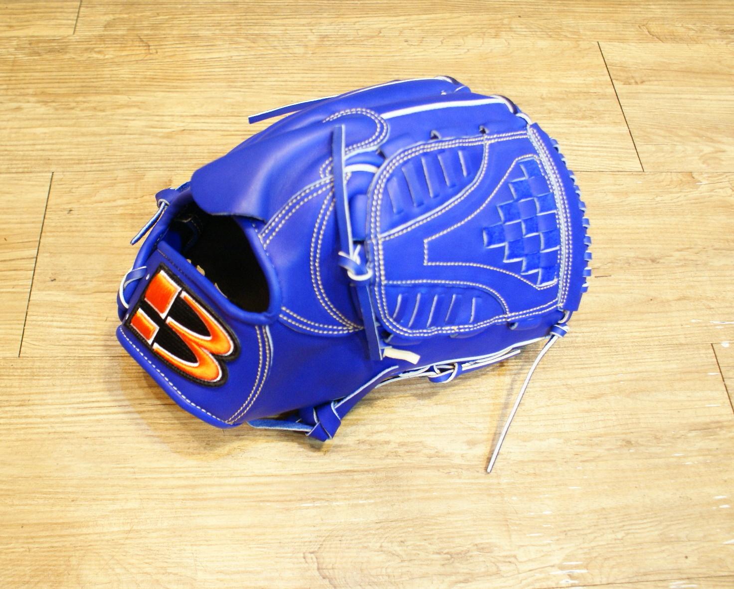 棒球世界 全新技魂系列美國小牛革職業用棒球手套內野投手檔 藍色