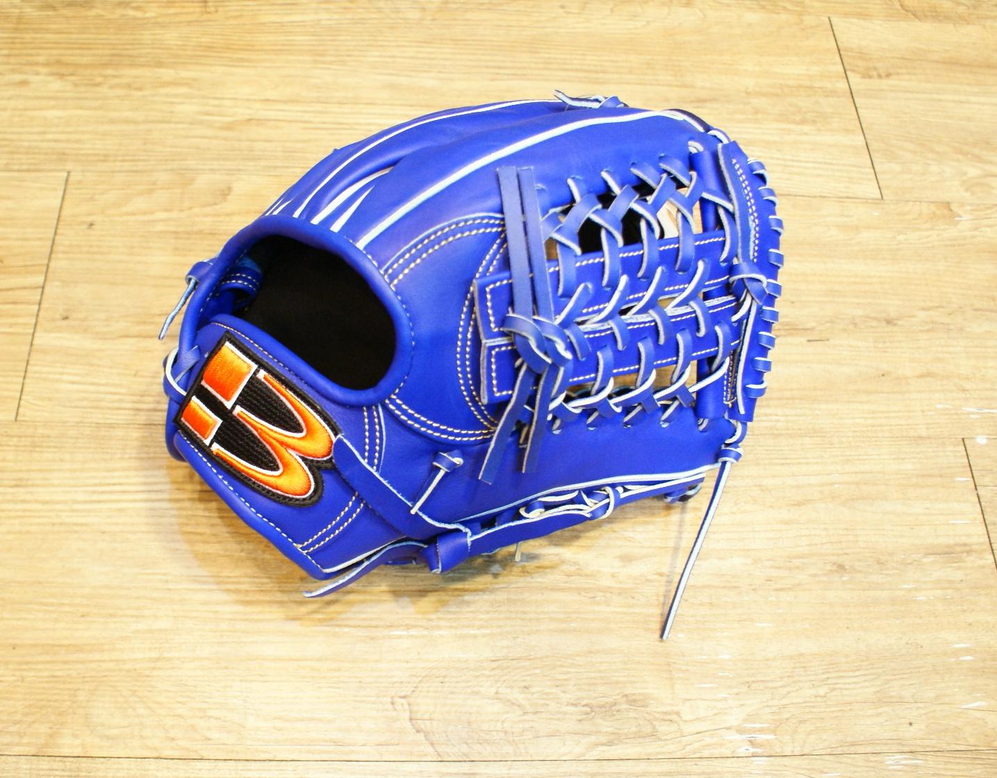 棒球世界 全新技魂系列美國小牛革職業用棒球手套內野網球檔 藍色