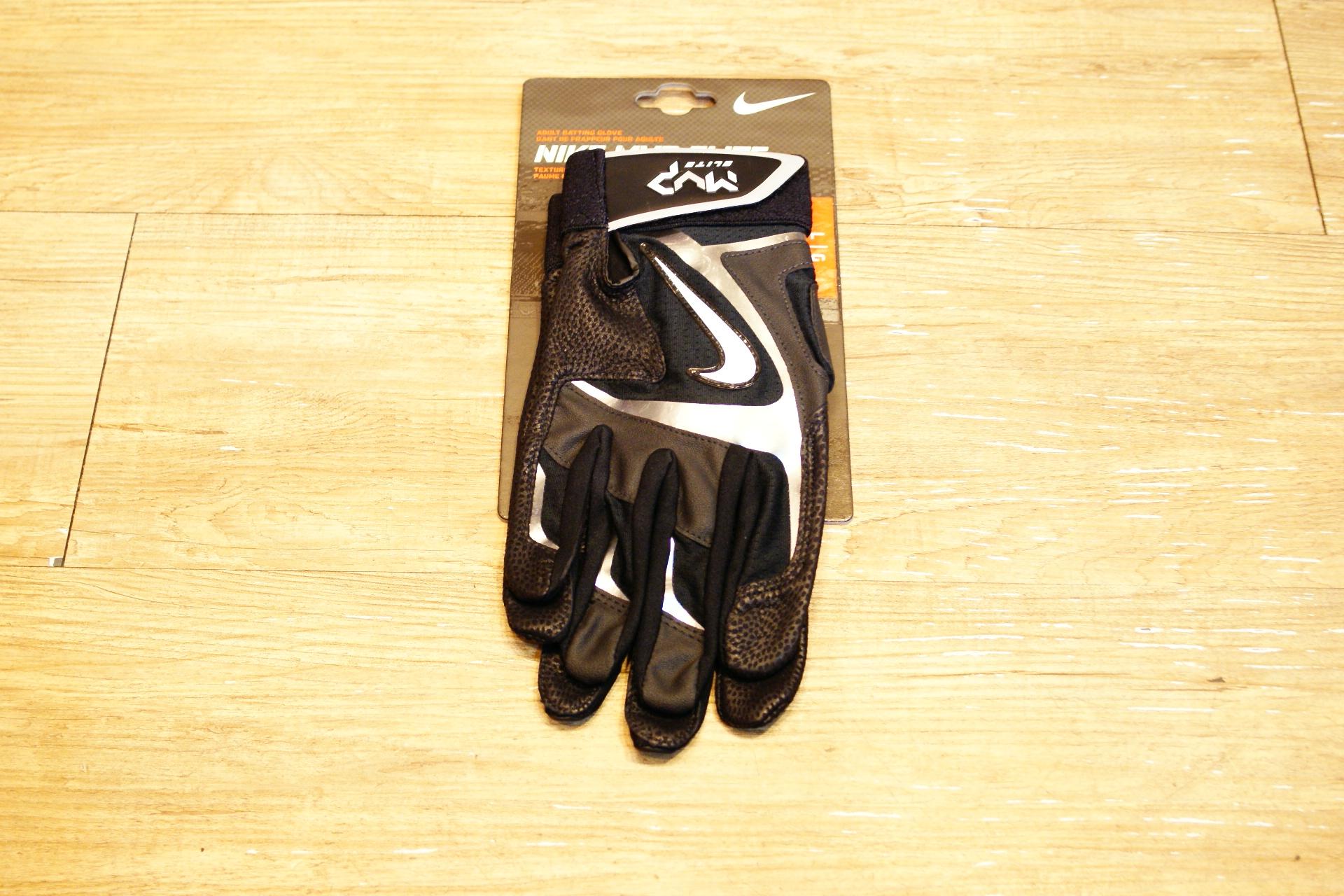 棒球世界 Nike MVP ELITE 最新款打擊手套每雙特價 黑灰配色
