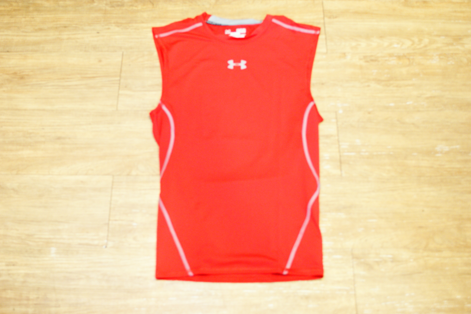 棒球世界 全新UNDER ARMOUR HG Sonic UA無袖運動緊身衣 特價 紅色