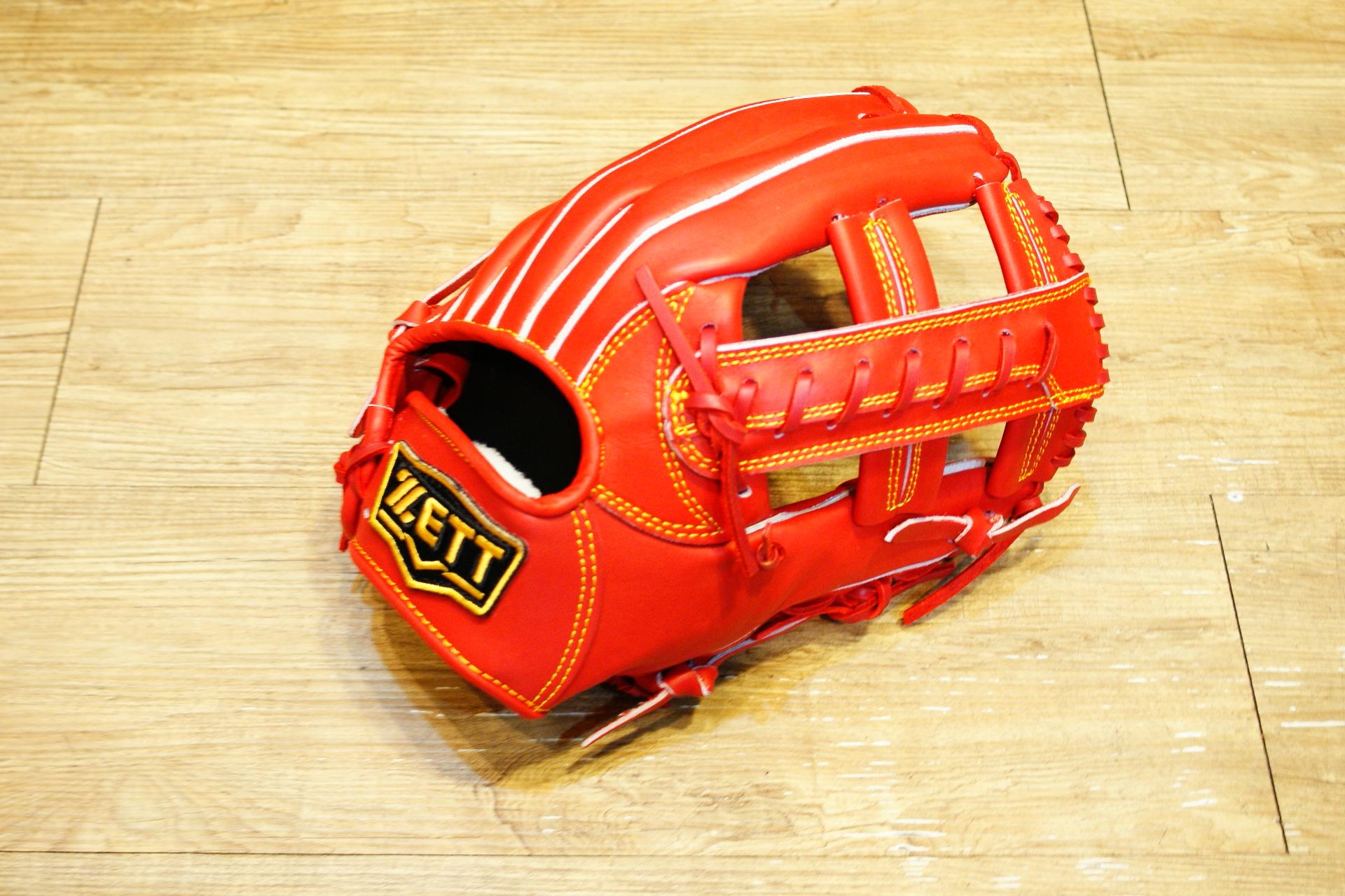 棒球世界 全新 ZETT本壘版新標訂製硬式牛皮內野手套 特價 12吋 限量日本最新球檔 紅色