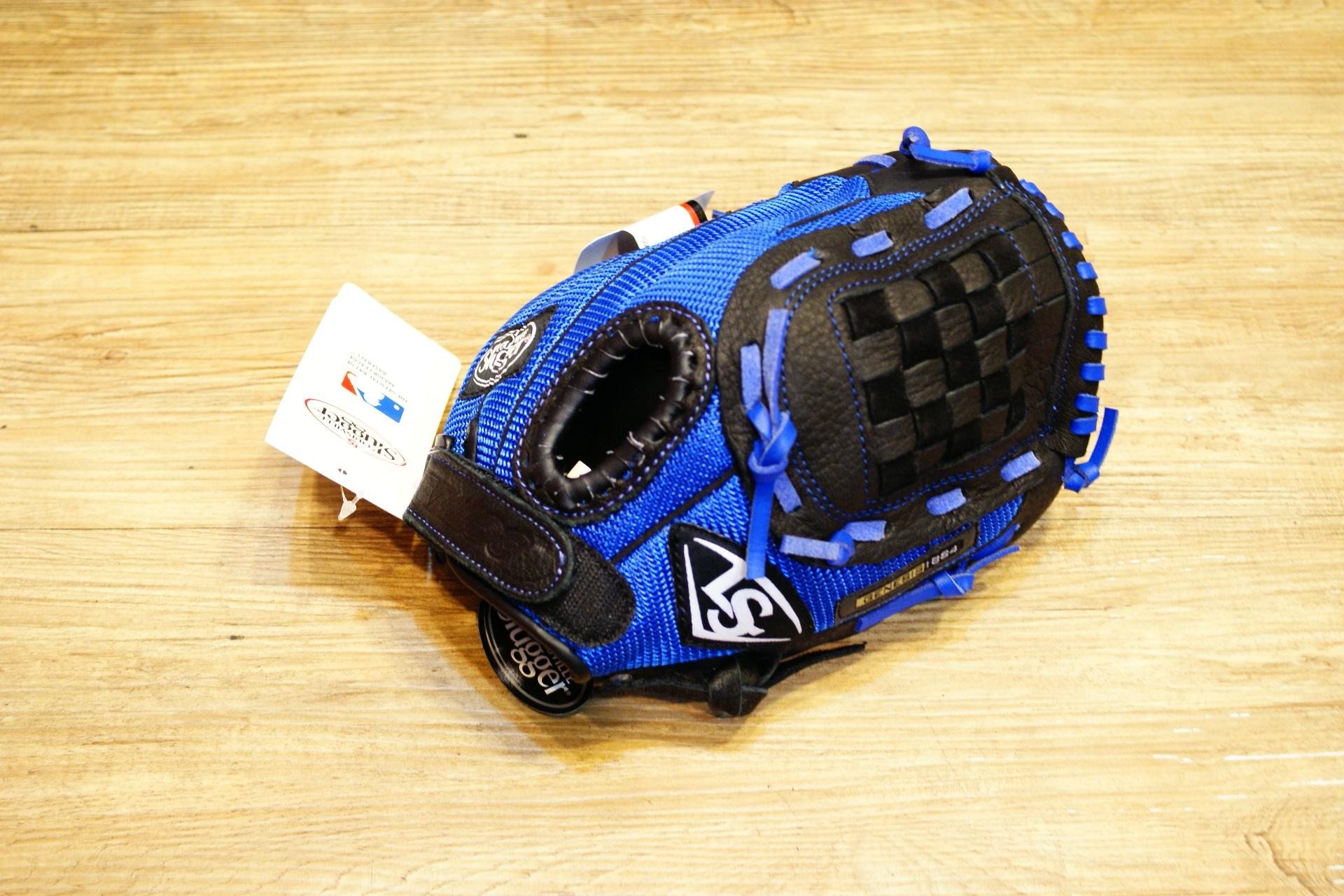 棒球世界 Louisville Slugger 路易斯威爾 genesis10.5吋兒童手套特價 黑藍配色