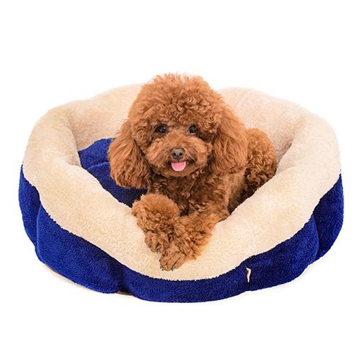 【小樂寵】深藍雙色柔軟可拆圓床