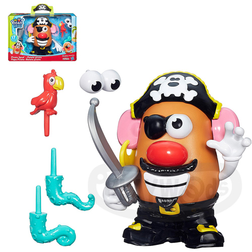 【Playwoods】[兒樂寶PLAYSKOOL]主題式蛋頭基本組:蛋頭先生 海盜先生組MR.POTATO HEAD-Pirate Spud (玩具總動員/孩之寶Hasbro/迪士尼/皮克斯)