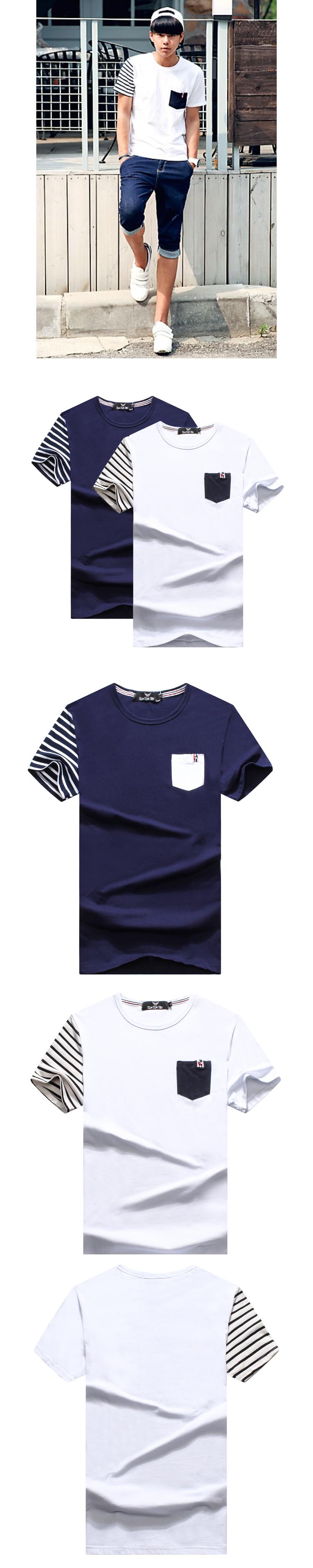T恤.班服.潮T.最佳情侶裝.純棉短T.單袖線條國旗釦【M50205】可單買.艾咪E舖