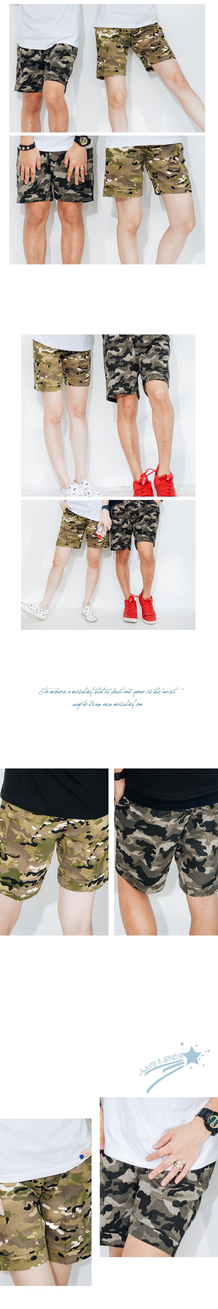 潮褲.飛鼠褲.潮搭必備.迷彩短褲.情侶褲.休閒褲.可單買【M55573】艾咪E舖.情侶褲