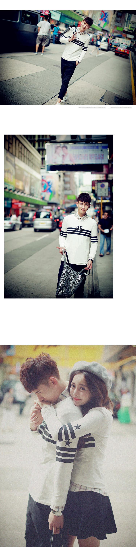 ◆快速出貨◆長袖T恤.情侶裝.班服.MIT台灣製.獨家配對情侶裝.客製化.純棉長T.05星星【YL0415】可單買.艾咪E舖