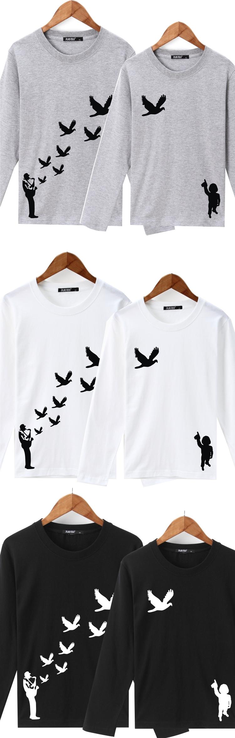 ◆快速出貨◆長袖T恤.情侶裝.班服.MIT台灣製.獨家配對情侶裝.客製化.純棉長T.飛鳥 歸巢 鴿子天空飛【YL0472】可單買.艾咪E舖