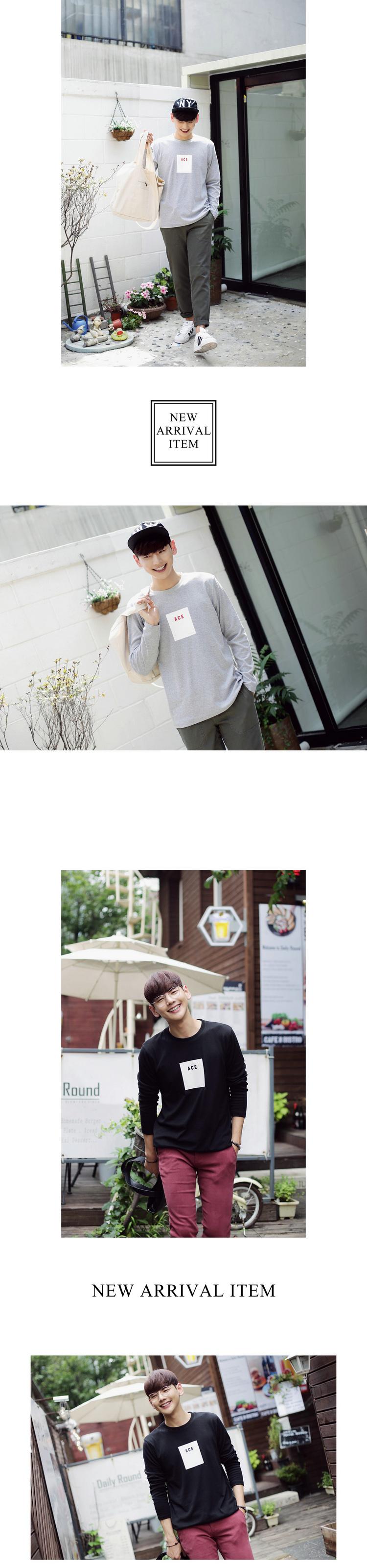 ◆快速出貨◆長袖T恤.情侶裝.班服.MIT台灣製.獨家配對情侶裝.客製化.純棉長T.簡約方框ACE【YL0505】可單買.艾咪E舖