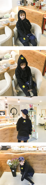 ◆快速出貨◆刷毛T恤 圓領刷毛 連帽刷毛 情侶T恤 暖暖刷毛 MIT台灣製.連帽-帽子微笑【YS0426】可單買.艾咪E舖