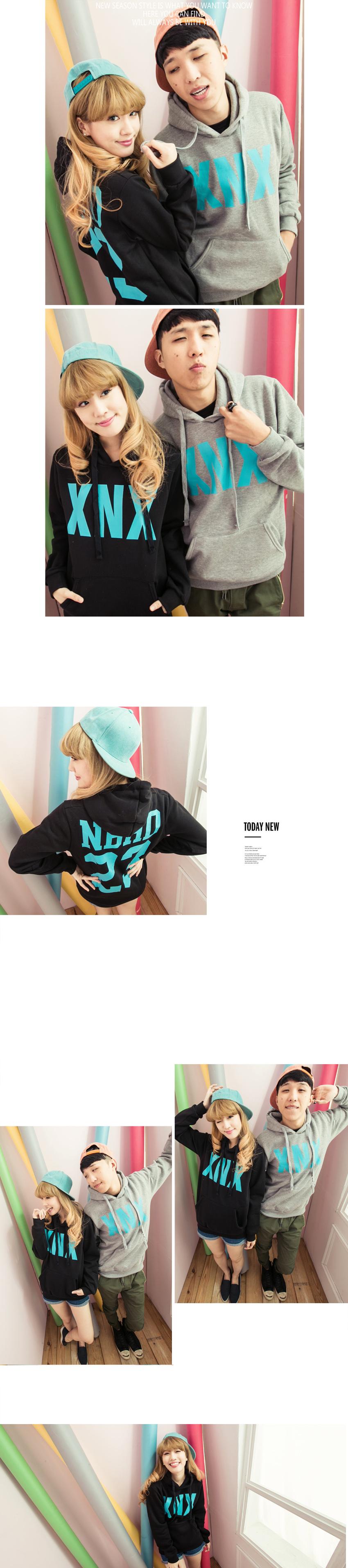 刷毛T恤 T恤 T-Shirt 情侶T恤暖暖刷毛 MIT台灣製 簡單字母XNX造型連帽T【D6375】艾咪E舖
