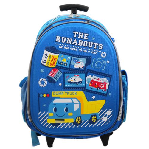 【真愛日本】15071500009拉桿後背包-底片多圖藍 三麗鷗家 ShinKanSen 藍色新幹線 背包 書包