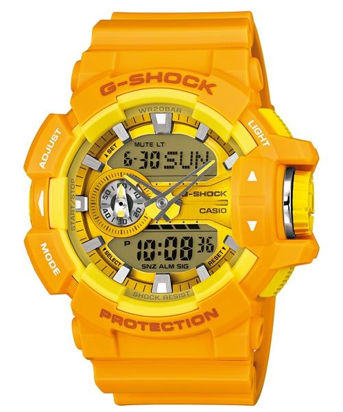 國外代購 CASIO G-SHOCK GA-400-1A 雙顯 運動防水手錶腕錶電子錶男女錶 大黃蜂